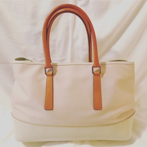 Coach Handbags - Classic Coach Hamptons Carryall, Pink and White